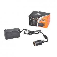 Adaptor 220V-12V bricheta auto, Invertor de tensiune auto Automax 230V-12V , 36W, max 3A , transformator, convertor