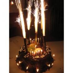Pachet  50 seturi (200 bucati)Artificii / Fantani de tort 25 cm, durata 90 sec, Julimex