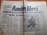 Ziarul romania libera 2 aprilie 1991