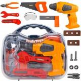 Trusa cu unelte de jucarie pentru copii, ToolsToys, 14 accesorii