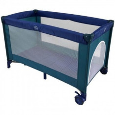 Cumpara ieftin Patut Pliabil Copii Soft Easy Sleep - Mamakids - Albastru