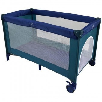 Patut Pliabil Copii Soft Easy Sleep - Mamakids - Albastru