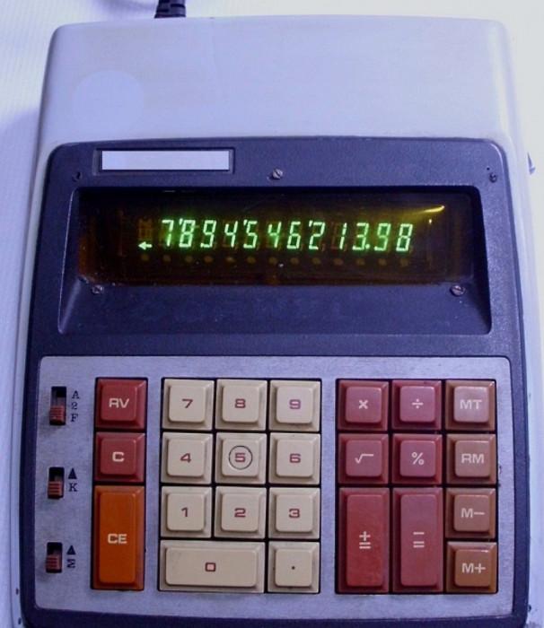 calculator vechi felix ce 126c de birou de colectie anii 70 functional