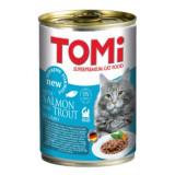 Cumpara ieftin Conserva pentru pisici, Tomi cu Somon si Pastrav, 400 g