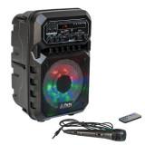 Cumpara ieftin Boxa portabila iluminata LED, 15 W, 1800 mAh, USB, cititor microSD, microfon inclus