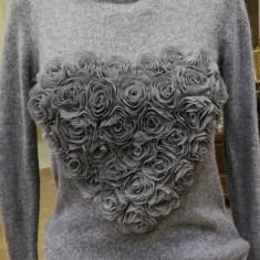 Bluza tricotata H&M, gri, 10-11 ani