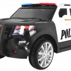 Masinuta electrica Raptor de politie, negru cu alb