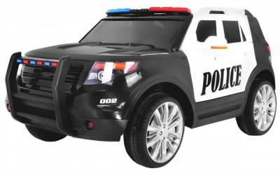 Masinuta electrica Raptor de politie, negru cu alb foto