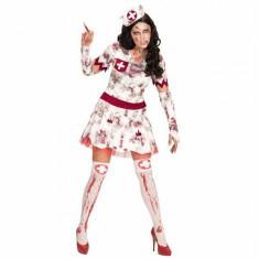 Costum zombie asistenta halloween