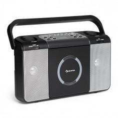 Auna BOOMTOWN USB, boombox, cd player, radio fm, mp3, radio portabil, negru