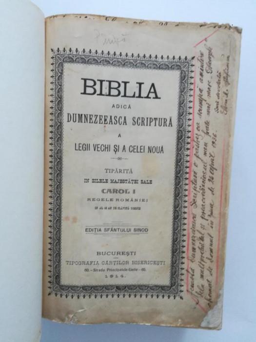 Biblia Carol 1914