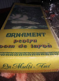 ORNAMENT PENTRU POM DE IARNA,CUTIE ORIGINALA VECHE/COLECTIE Ceausista,T.GRATUIT