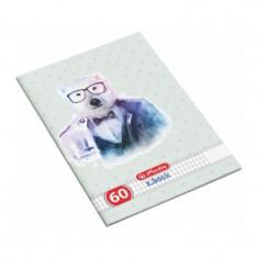 Caiet studentesc A4 Hipsters Animals, 60 file, matematica, Herlitz