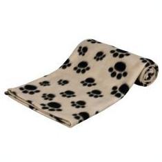 Pătură pentru câini și pisici - cu modele de labe