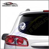 Skull BMW -Stickere Auto-Cod:VIS-072-Dim. 15 cm. x 11.9 cm.