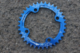 Snail Narrow Wide CNC foaie aluminiu MTB 36t - BCD104mm - Albastru