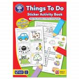 Carte de Colorat cu Activitati in Limba Engleza si Abtibilduri Lucruri de Facut, orchard toys