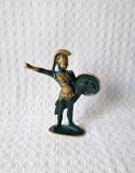 Statueta din bronz de dimensiuni mici soldat atenian, statueta bronz razboinic