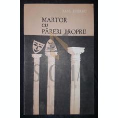 PAUL EVERAC - MARTOR CU PARERI PROPRII