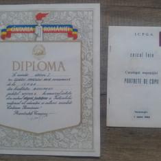 Diploma premiul I pt fotografie,Cantarea Romaniei + catalog expozitie fotografie