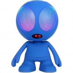 Boxa bluetooth portabila, model alien, MSD, FM, 10 W, Albastru