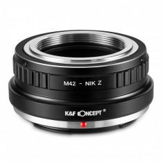 K&F Concept M42-Nik Z adaptor montura de la M42 la Nikon Z6 Z7 KF06.375