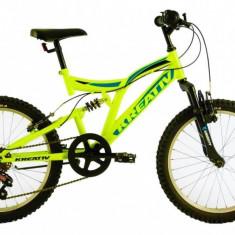 Bicicleta Copii Kreativ 2041 Verde Aprins 20 inch