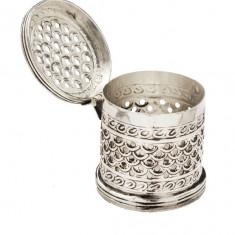 Caseta argintata rotunda Traforata Sheffield by Chinelli Cod Produs 1212
