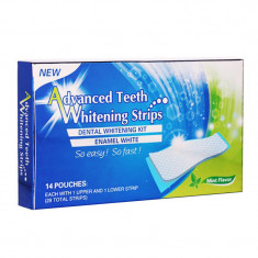 Benzi Albire Dinti, Advanced Teeth Whitening, Cutie 14 plicuri (28 benzi)