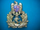 HOPCT ROMANIA CUC EMBLEMA MILITARA OFITER MARINA D=68 MM -POST DECEMBRISTA [ 5 ], Romania de la 1950