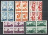 TSV$ - BLOC X4 ROMANIA 1946 LP 190 REFORMA AGRARA MNH/** LUX, Nestampilat