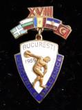 Jocurile Balcanice Bucuresti 1959  Editia  XVIII   Insigna