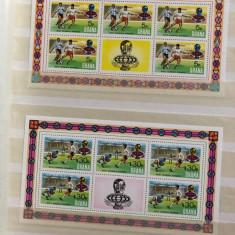 GHANA  Campionatul FOTBAL , FOOTBALL 1974 SERIE 4 COLITE - TIMBRE neuzate, Sport, Nestampilat