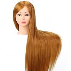 Cap pentru practica Auriu sintetic 60 cm manechin salon frizerie coafor Piepteni