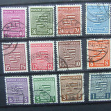 1945 SERIE STAMPILATA ZONA SOVIETICA COTA 68$, Stampilat