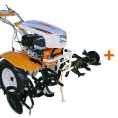 Motocultor O-MAC NEW 1350-S, 13CP, cu diferential + plug reversibil + roti C. + roti M.