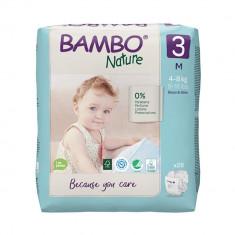 Scutece Bambo Nature Eco Friendly, Nr 3, 4 - 8 Kg, 28 buc