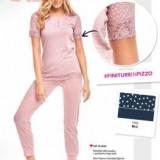 Pijamale dama maneci scurte, Infiore mod. VAT0462, L, S, Roz