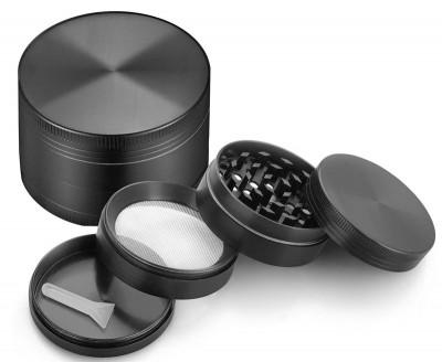 Grinder Pentru Maruntit Tutun Plante Aromatice Condimente Din Aluminiu 4 Piese foto