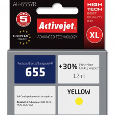 Cartus compatibil HP 655XL yellow pentru HP CZ112AE, Premium Activejet, Garantie 5 ani
