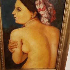 Pictura veche ulei pe panza, Nud, Altul