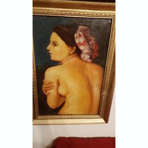 Pictura veche ulei pe panza