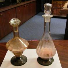 GE - Lot 2 sticle / decantoare, perioada comunista, pentru bauturi