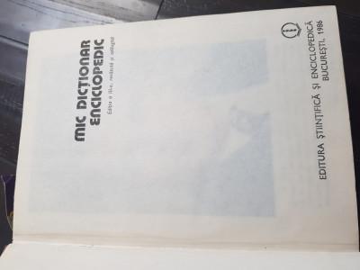 Mic dictionar enciclopedic 1986 Aj foto