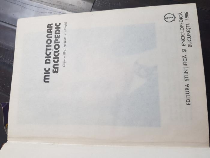 Mic dictionar enciclopedic 1986 Aj