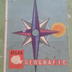 ATLAS GEOGRAFIC  ROMANIA 1964 CU MULTE POZE DIN LOCALITATI