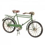 Macheta Bicicleta Retro din metal verde 31 cm x 10 cm x 17 h, Clayre & Eef