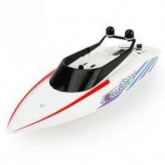 Barca cu telecomanda iUni RC Racing Boat Waterproof, Frecventa 2.4G, Alb