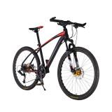 Bicicleta MTB-HT Forever F26R7B roata 26 cadru aluminiu 27 viteze culoare negrurosu