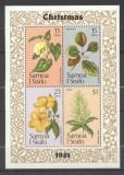 Samoa 1981 Christmas, flowers, set+perf. sheet, MNH S.311